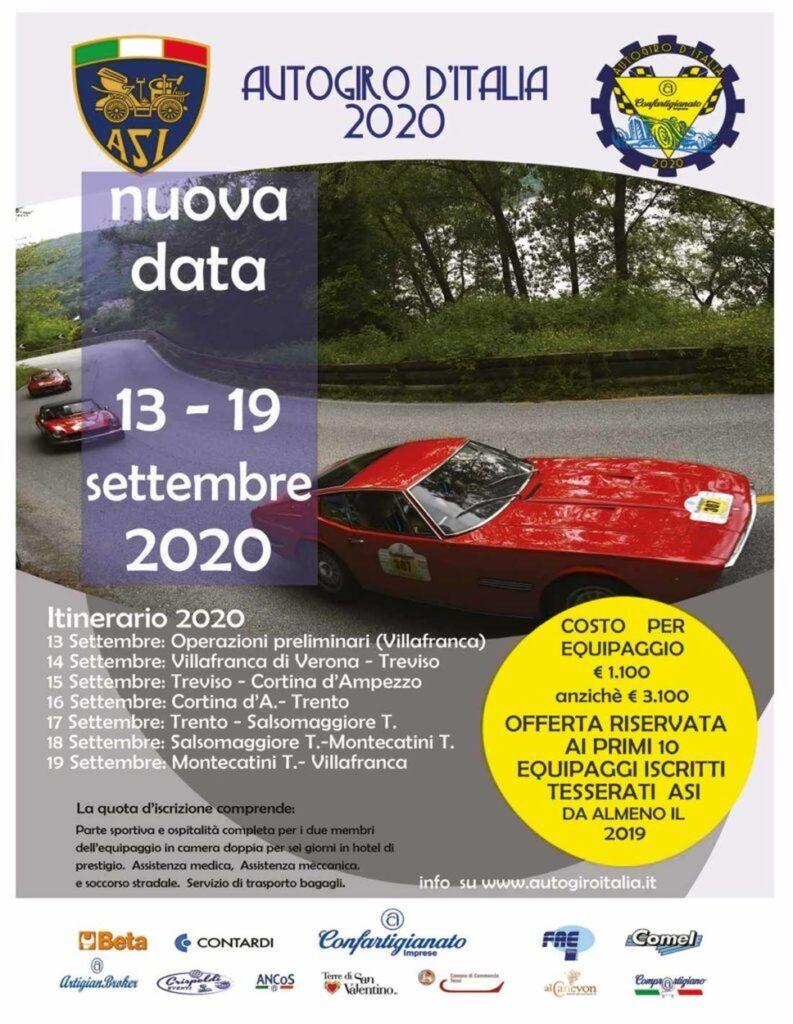 Partsy yo.hoo!! autogiro d' Italia 2020 locandina originale